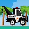 Carrera de camión de carga de policía