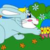 Colorea al conejito lindo