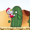 Skyboy saltando en el desierto