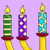 Colorea las velas