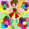 Pinta a la princesa de los globos