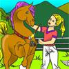 Colorea el bonito caballo