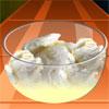 Delicioso helado con huevos