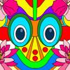 Colorea la máscara tribal