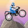 Ciclista de montaña loco