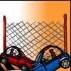 Carrera de coches en las Montañas Rocallosas