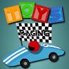 Carrera de coches de juguete