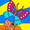 Mariposas coloridas de jardín