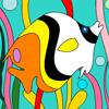 Colorea al extravagante pez