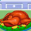 Cocinando el pavo de Acción de Gracias